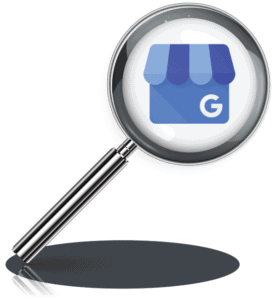 magnifying glass on google my business